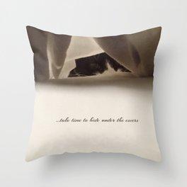 Take time Throw Pillow