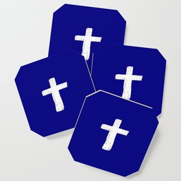 Christian Cross Chalk version Coaster