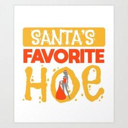 Sexy Christmas Santa Claus Slut Gift Art Print
