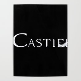 Castiel with Feather White Poster