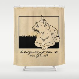 Charles Dickens - Love of a Cat Shower Curtain