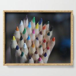 Pencil Crayon Tips Serving Tray