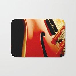 Jazz Guitar Closeup Bath Mat