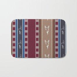 Cute Llama Seamless Pattern Design Bath Mat