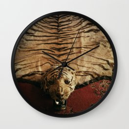 Tiger Skin Rug Wall Clock