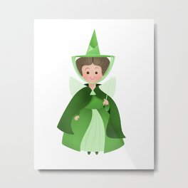 Green Fairy Metal Print