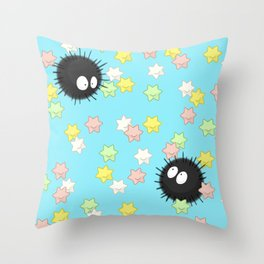 Soot and Sugar Stars Throw Pillow