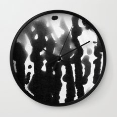 abstract in black and white by Snusmumrik Wall Clock