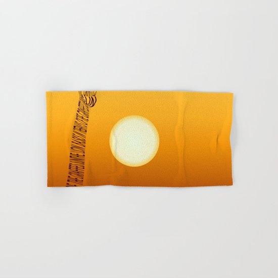 Giraffe and sun Hand & Bath Towel