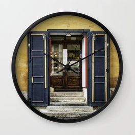 Open or closed Wall Clock