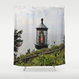 The Red Beacon On Tillamock Bay Shower Curtain