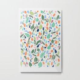 Terrazzo botanica Metal Print