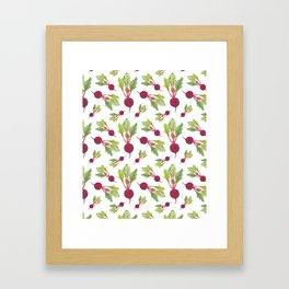 Feel the Beet in Radish White Framed Art Print