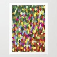 Leaves of many colors Art Print