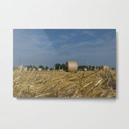 Haystacks Metal Print