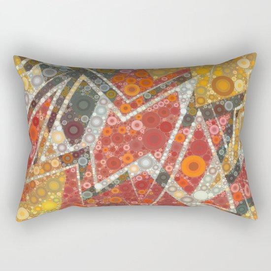 Terracotta Bubbles Rectangular Pillow