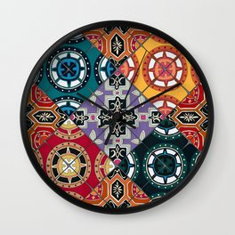 DESEO BOLD spanish tiles Wall Clock