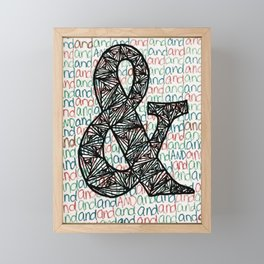 And Ampersand Framed Mini Art Print