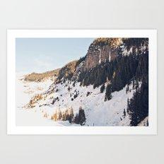 Mountain Snow in the Sun Art Print