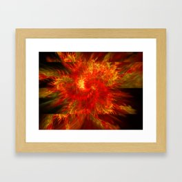 Flames Outspreading Framed Art Print