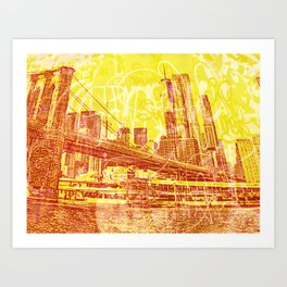 big yellow apple Art Print