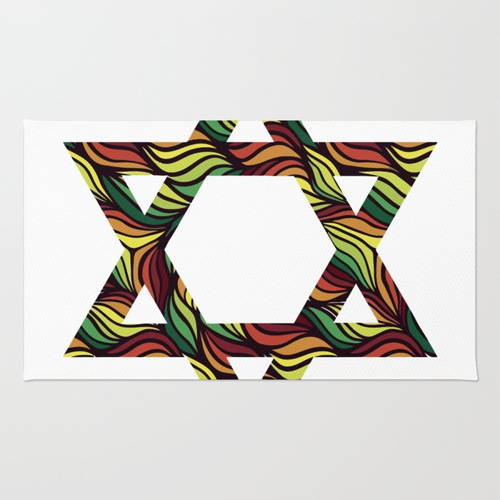 Star of David (Zion) Rasta Rug
