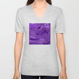 Symphony of Purple Sky Unisex V-Neck