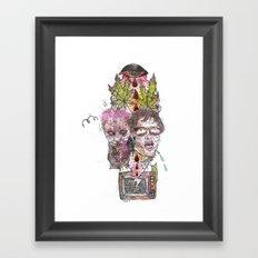 TV Party Framed Art Print