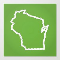 wisconsin Canvas Prints featuring Wisconsin by Brooke Hamilton