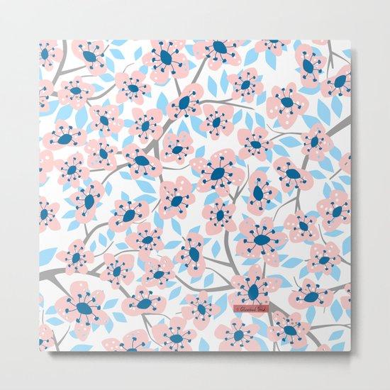 White Blossoms Metal Print