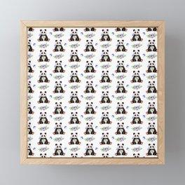 Garden Panda Pattern Framed Mini Art Print