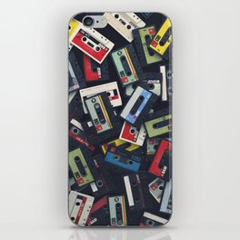 Vintage Retro Cassette Tape Design iPhone Skin