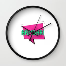 Look Out for the Armbar Brazilian Jiu-Jitsu BJJ Training MMA Wall Clock