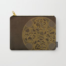 Tick-Tock Poem in Circular Gallifreyan Carry-All Pouch