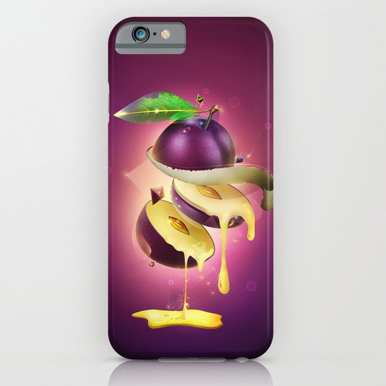 Sliced Plum iPhone & iPod Case