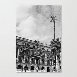 Plaça Reial - Barcelona Canvas Print