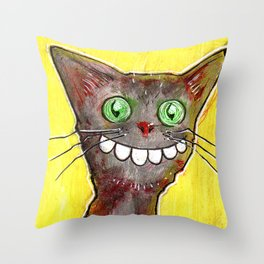 Derp Cat Throw Pillow