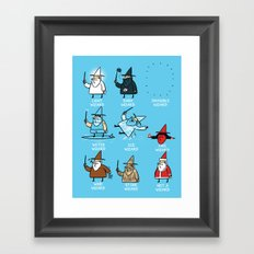 Know Your Wizards Framed Art Print