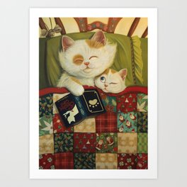 The cozy moment Art Print