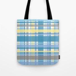 Blue and Yellow Tartan Tote Bag