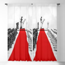 Wedding Chess / 3D render of checkmating ceremony Blackout Curtain