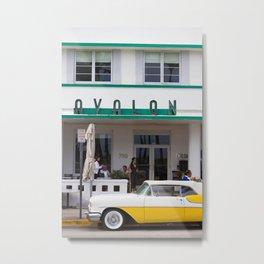 Avalon Hotel, Miami Beach, Florida Metal Print
