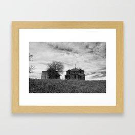 Abandoned Kansas House Framed Art Print