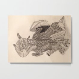 Baby Dragon Metal Print