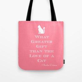 Dickens Cat Quote Tote Bag