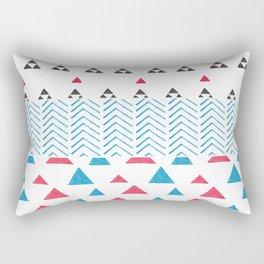 Watercolor hand painted pink blue black tribal geometrical Rectangular Pillow