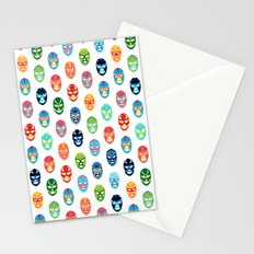 Lucha libre mask pattern Stationery Cards