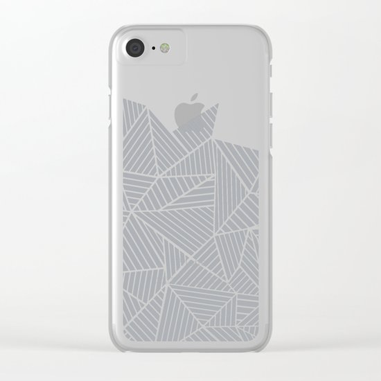 Abstract Mountain Grey Clear iPhone Case