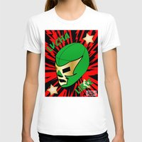 mucha T-shirts featuring Mucha Lucha by Silver Angel Gallery