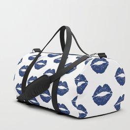 Navy Lips Duffle Bag